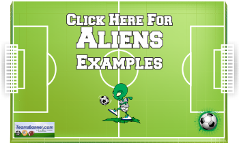 Aliens Soccer Banners