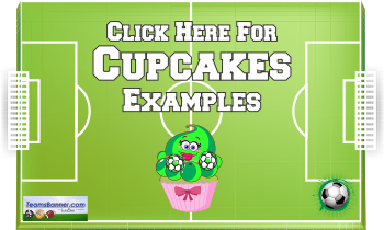 cupcakes Soccer Banners