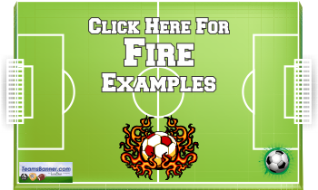 fire Soccer Banners