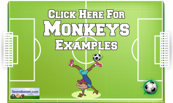 moneky Soccer Banners