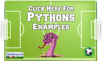 python Soccer Banners