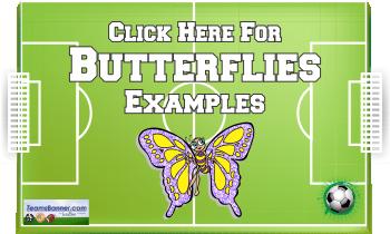 butterflies Soccer Banners