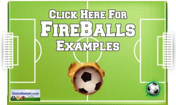 fireballs Soccer Banners
