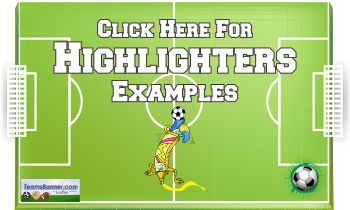 highlighter Soccer Banners