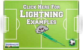 lightning Soccer Banners
