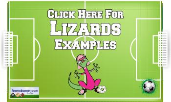 lizards Soccer Banners