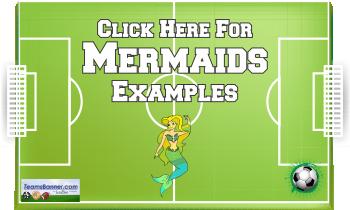 mermaids Soccer Banners