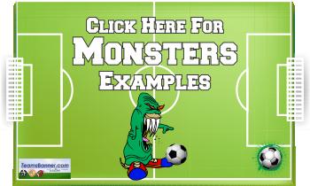 monster Soccer Banners