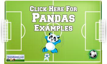 pandas Soccer Banners