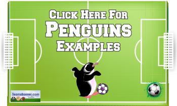 penguins Soccer Banners