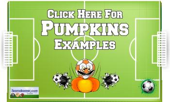 pumpkins Soccer Banners
