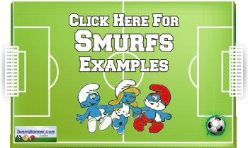 smurfs Soccer Banners