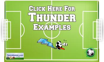 thunder Soccer Banners