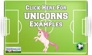 unicorns Soccer Banners