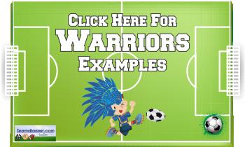 warriors Soccer Banners